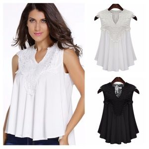 Gorgeous White Top with Lace! NWOT!